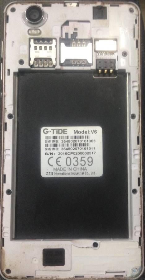 G-Tide V6 Flash File | 5 1 MT6580 Tested Firmware
