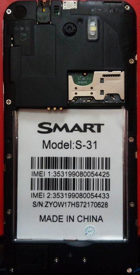 Smart S31 Flash File Without Password MT6572 Nand | FixFirmwareX
