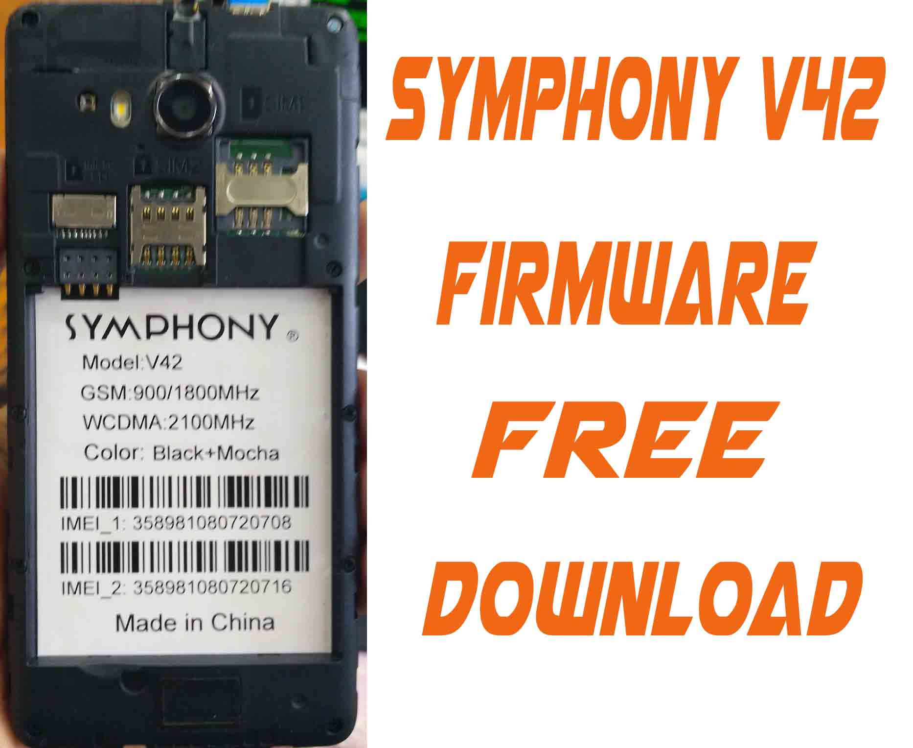 Symphony V42 flash File Without Password