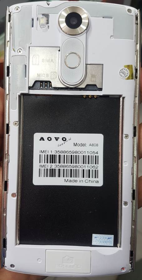 Aovo A808 Flash File Without Password