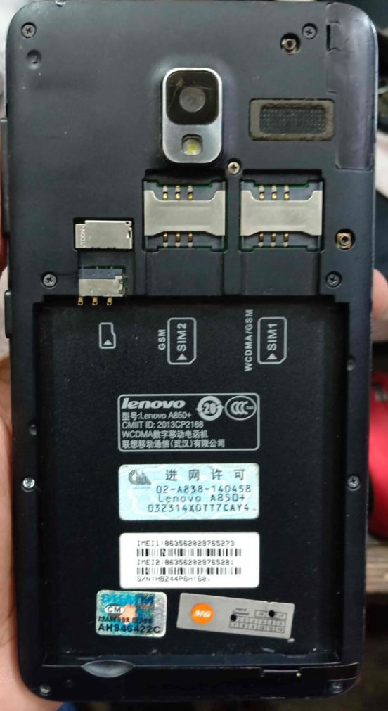 Lenovo A850+ Flash File Without Password All Version