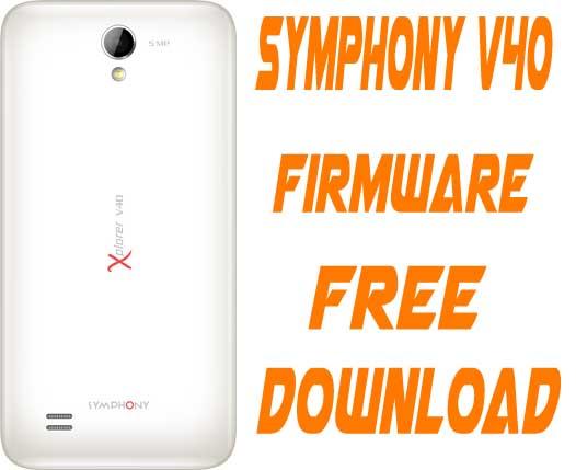 Symphony V40 Stock Firmware