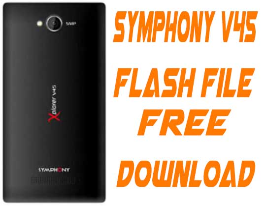 Symphony V45 Stock Firmware