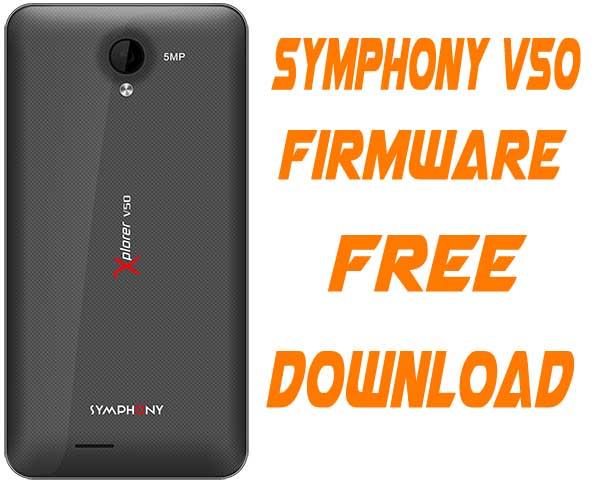 Symphony V50 Stock Firmware