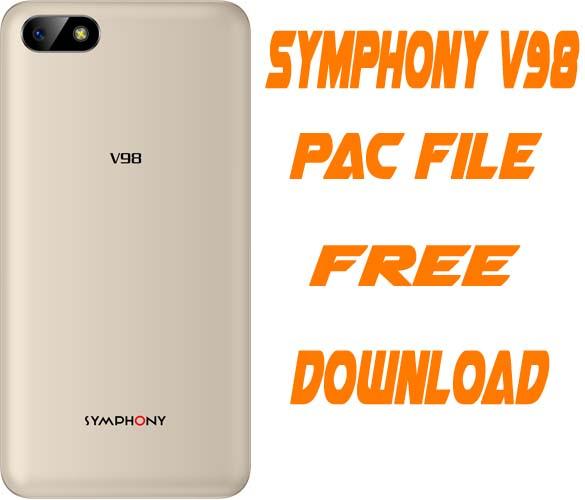 Symphony V98 Flash File Without Password