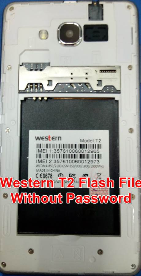 Western T2 Flash File Without Password