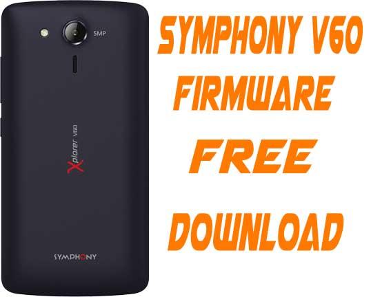 Symphony V60 Stock Firmware