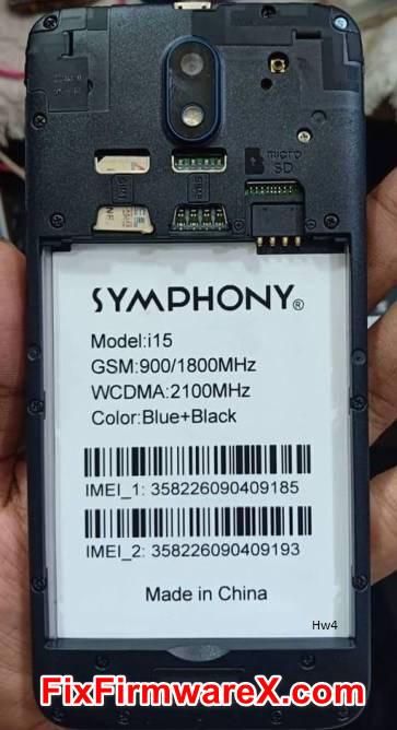 Symphony i15 HW4 Flash File Without Password