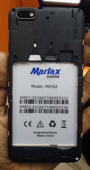 Marlax MX102 Flash File MT6580 6.0 Firmware