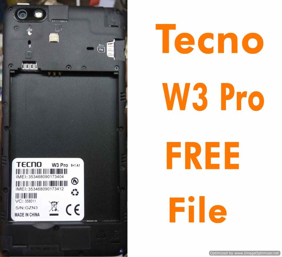 Tecno W3 Pro Flash File Without Password