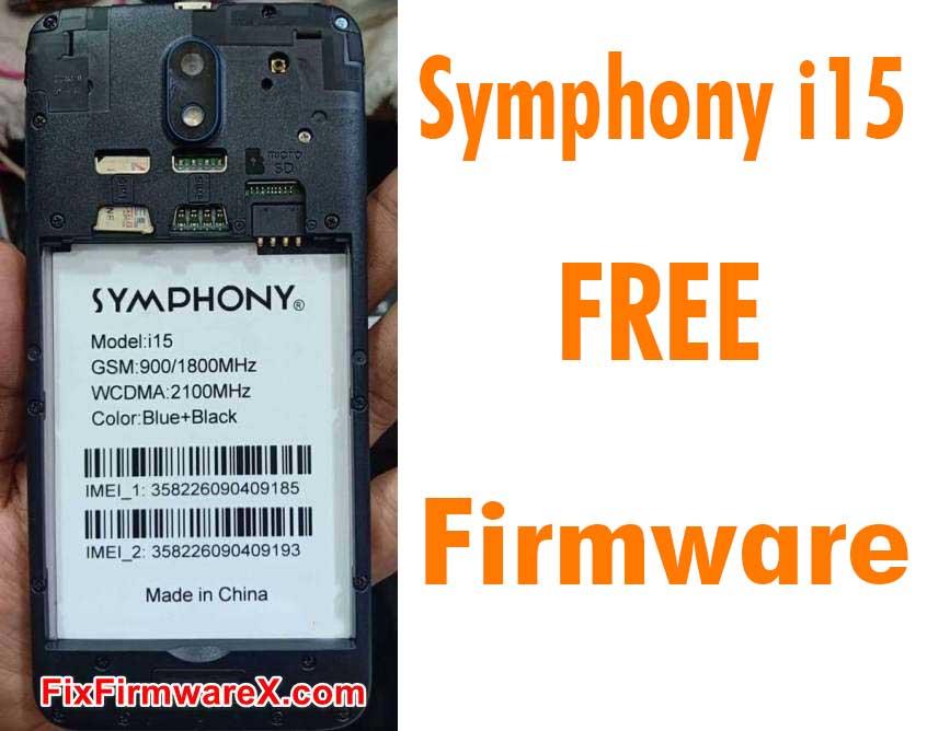 Symphony i15 Flash File HW1 Without Password