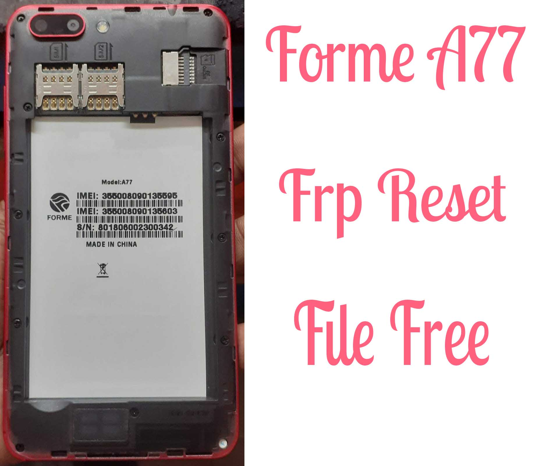 Forme A77 Frp Reset File Bypass Without Password