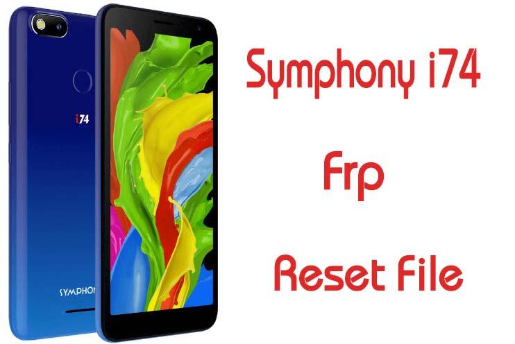 Symphony i74 Frp Reset Bypass File 10MB Without Box