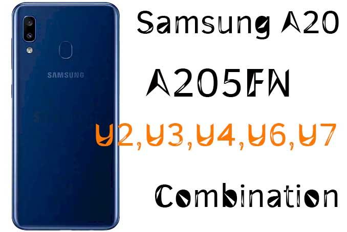 Samsung A205FN U2 U3 U4 U6 U7 Combination Free