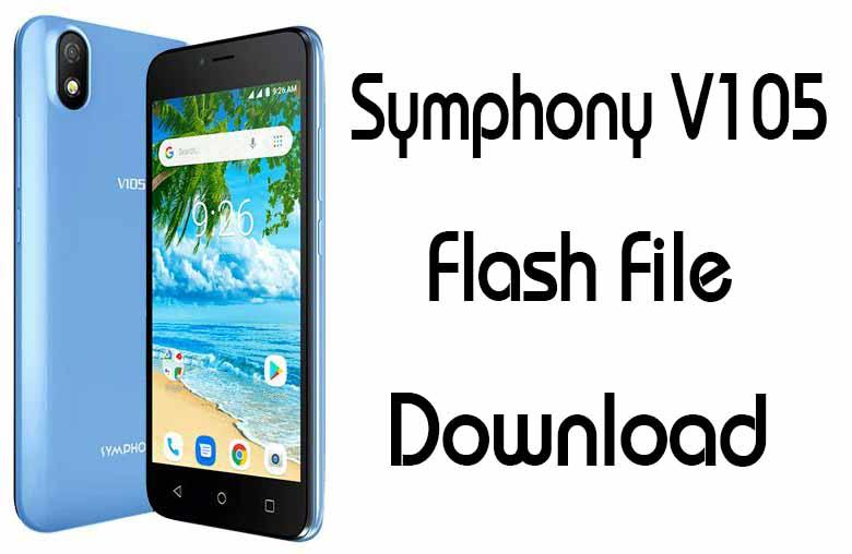 Symphony V105 Flash File Firmware Factory Signed