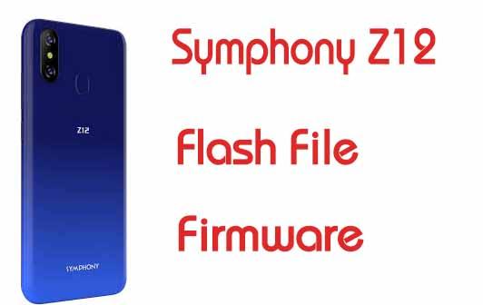 Symphony Z12 Flash File Firmware Factory Signed