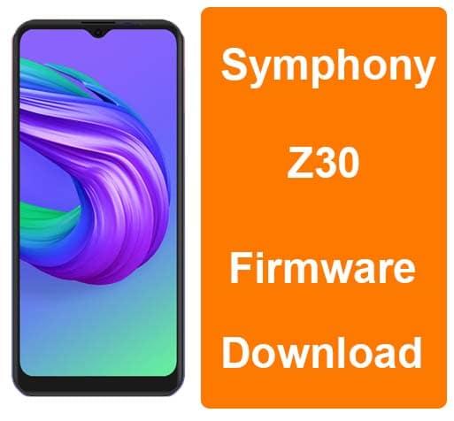 Symphony Z30 Tested Custromer Care Firmware