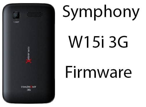 Symphony W15i 3G Firmware (Flash File) Dead Fix